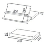 Compact Slideaway Document Holder dimensions