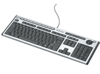 Slimline Multi Media Keyboard with Antimicrobial Protection