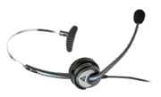 Wideband Monaural Headset with Noise Cancelling Microphone